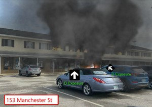 Multi family residence fire simulation screenshot