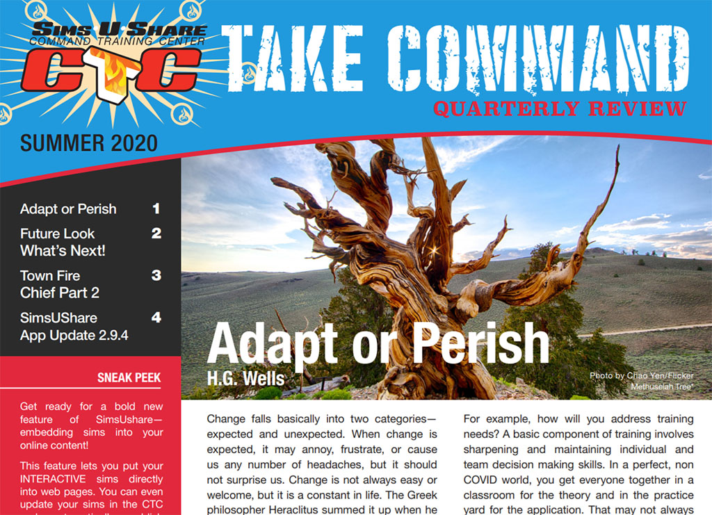 SimsUshare Fire Simulator Take Command Summer 2020 Newsletter