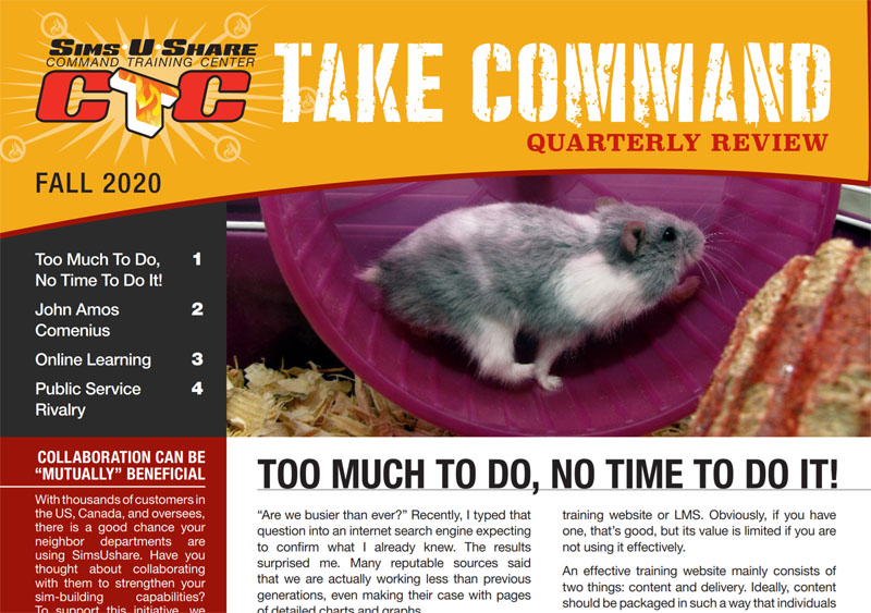 Fall 2020 Fire Simulator Newsletter