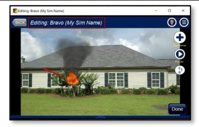 Editing new location in fire simulator