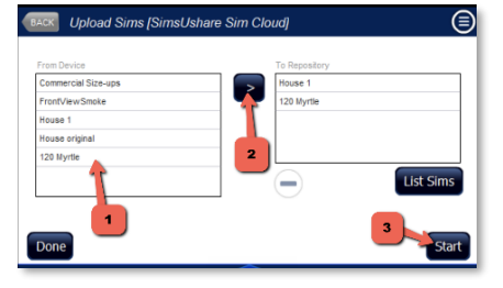 Transferring fire simulations to SimsUshare SimCloud